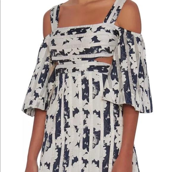 Alexis Dresses & Skirts - ALEXIS Floral Striped Cold Shoulder Dress 💫 Large
